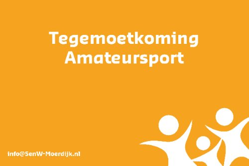 Tegemoetkoming amateursport